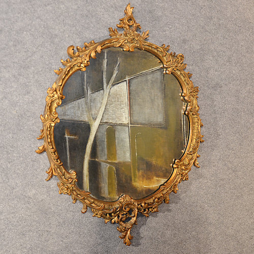 Antique Wall Mirror Victorian Ornate Gilt Wood