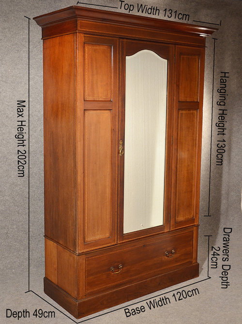 - Antique Wardrobe Armoire Mirror Door Maple & Co - Antiques Atlas