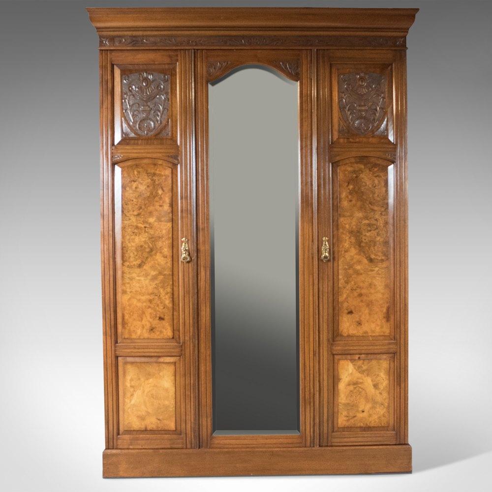 Antique Wardrobe Victorian Mirrored Cupboard Antiques Atlas
