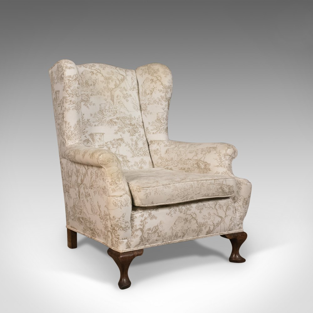 Antique Wing Back Armchair English Victorian Antiques