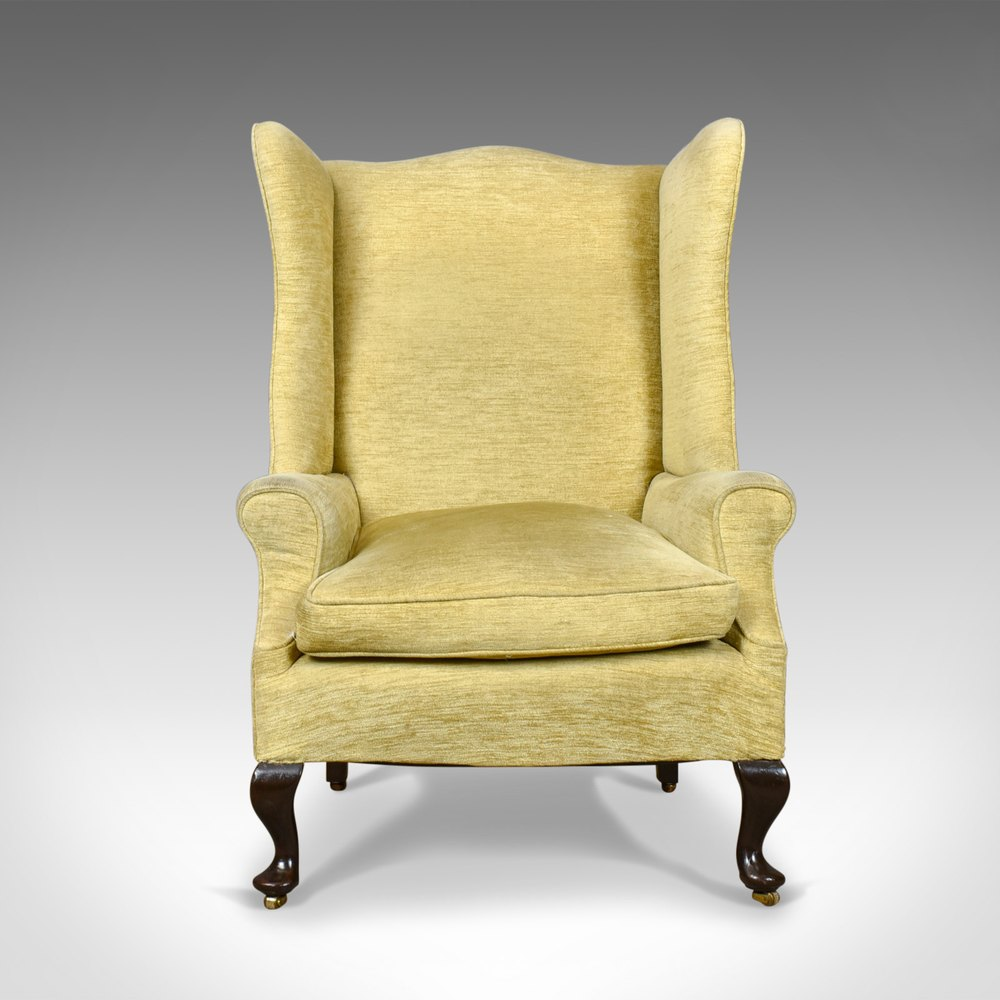Antique Wing Back Armchair Victorian Easy Chair