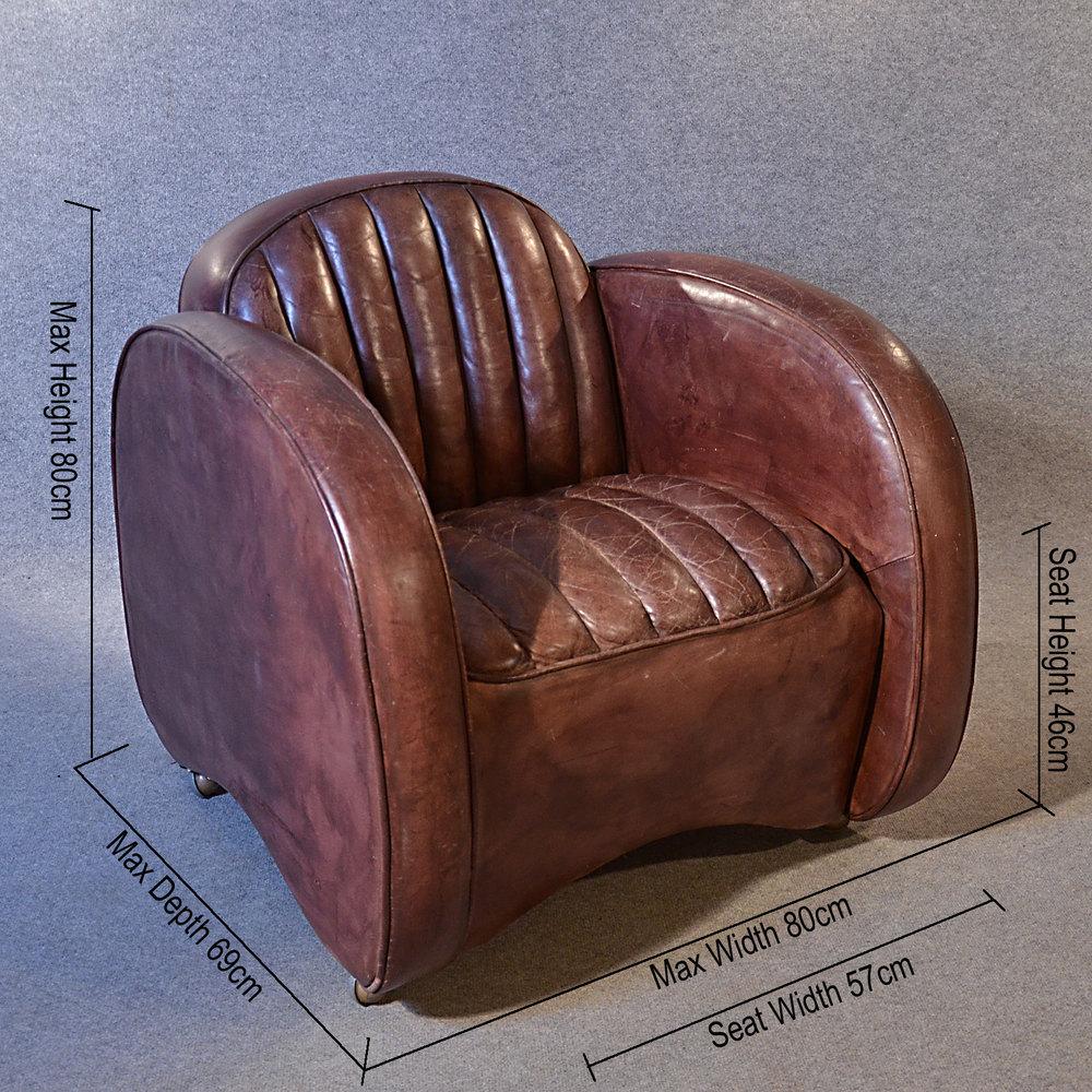 Antiques Atlas - Art Deco Leather Armchair Vintage Club ...