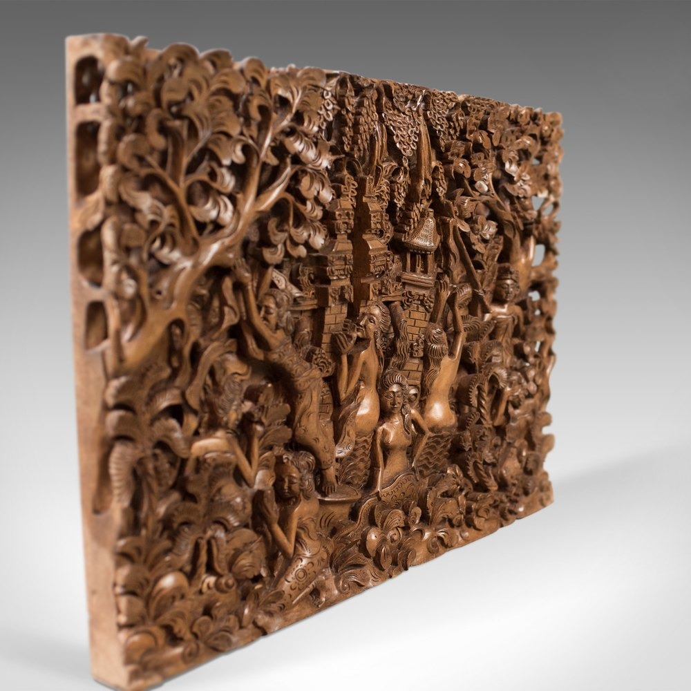 Antiques Atlas Balinese Carved Wall Panel Mid Century