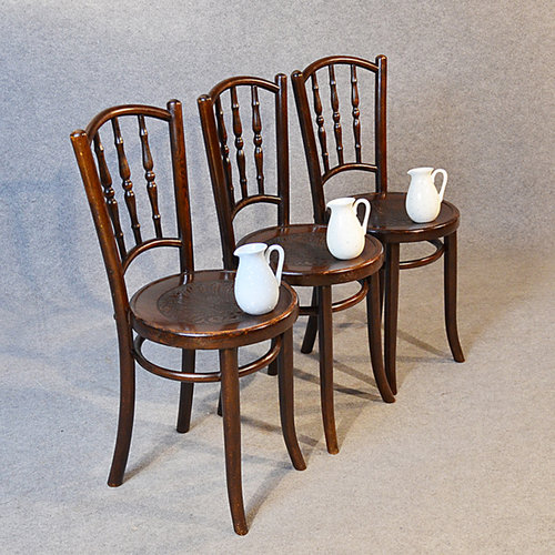 Ordinaire Bentwood Set Of 3 Vintage Kitchen Dining Chairs ...