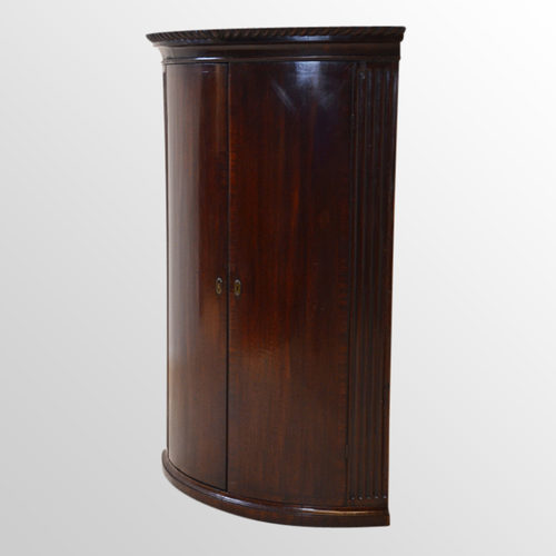 Captivating Bow Front Corner Cabinet Wall Cupboard