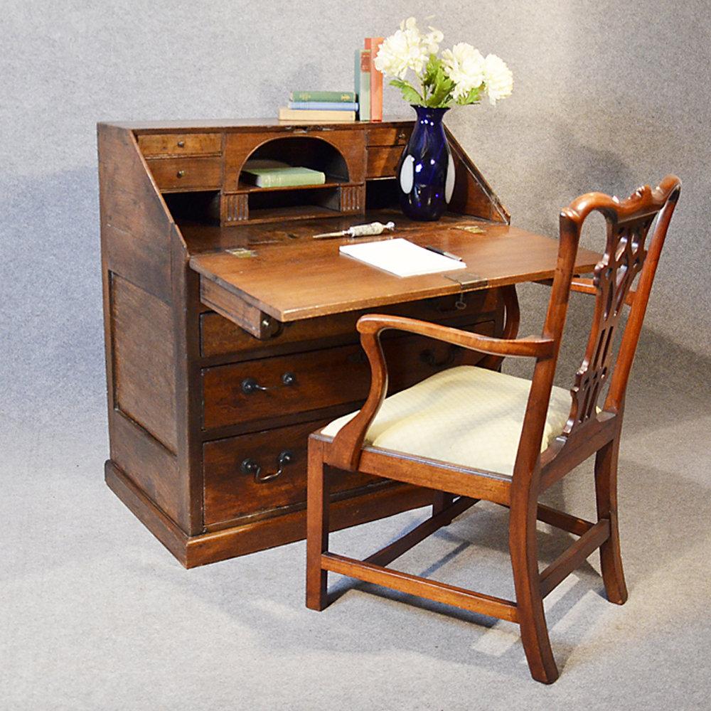 Bureau Large 17th Century English Writing Desk Antique