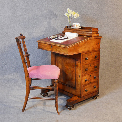 Burr Walnut Davenport Writing Desk Leather Slope Antique ... - Burr Walnut Davenport Writing Desk Leather Slope - Antiques Atlas