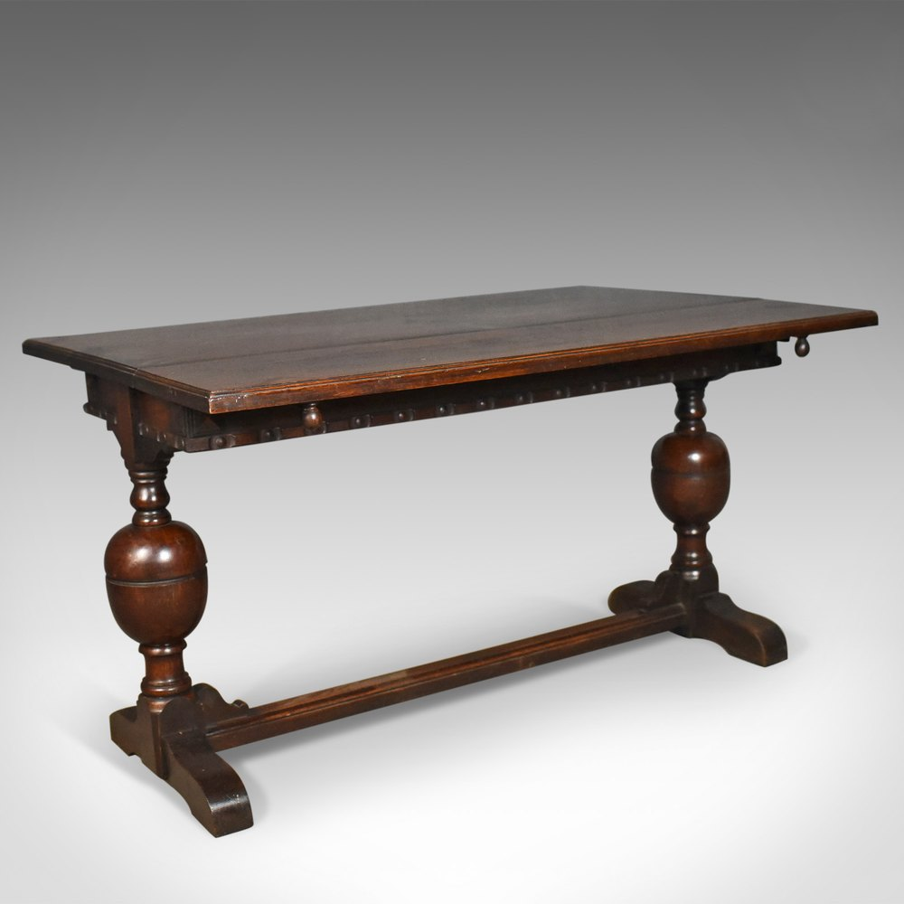 Extending Antique Dining Table 17th Century Refectory