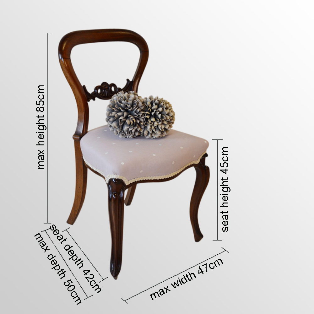 Pleasant Four Balloon Back Cabriole Leg Dining Chairs Antiques Atlas Gamerscity Chair Design For Home Gamerscityorg