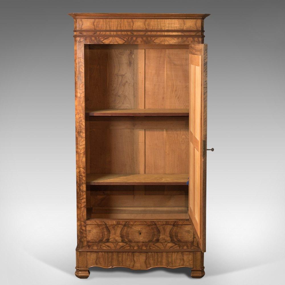 french antique armoire 19th century wardrobe burr antiques atlas. Black Bedroom Furniture Sets. Home Design Ideas