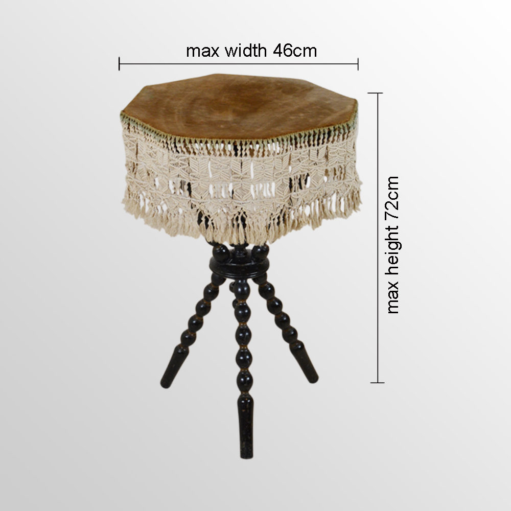 Gypsy Wine Lamp Side Occasional Tripod Tarot Table