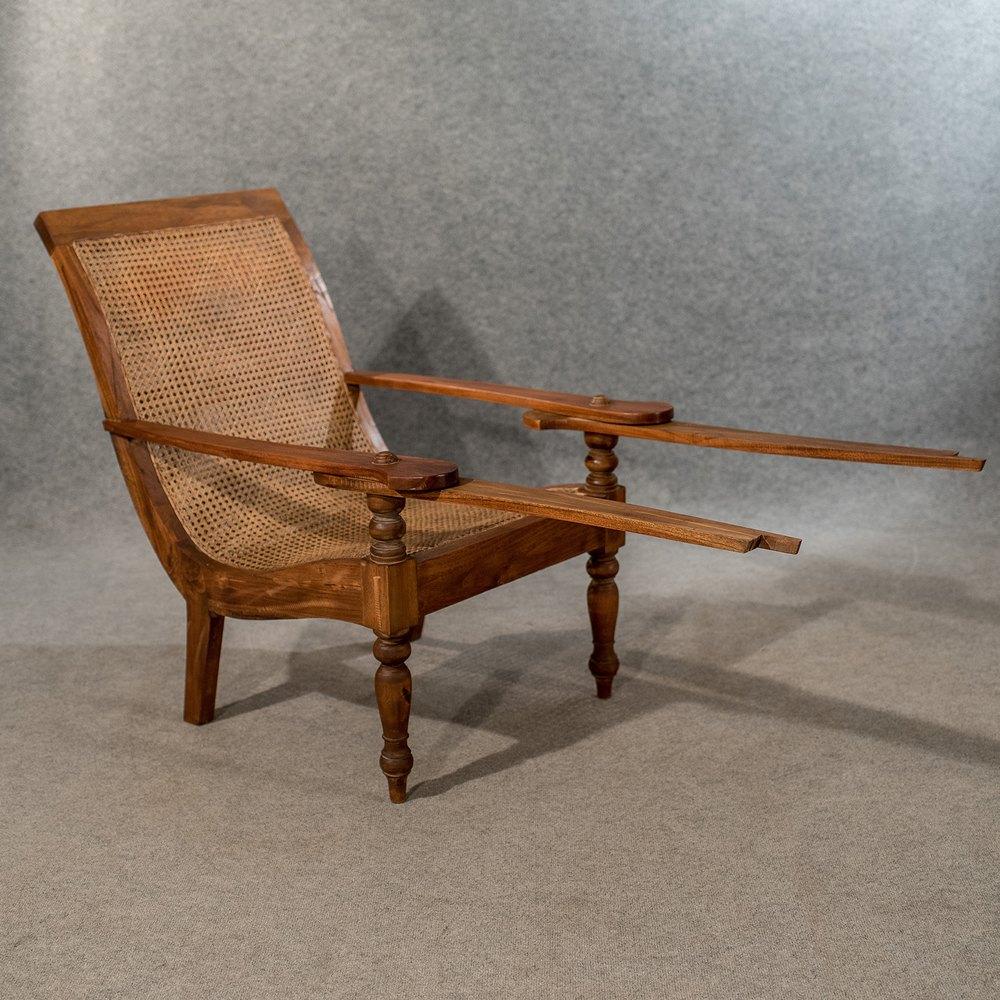 Large Antique Plantation Steamer Chair Vintage Antiques
