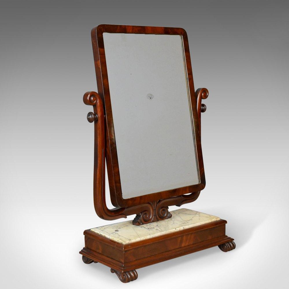 Antiques atlas large antique vanity mirror toilet swing for Large vanity mirror