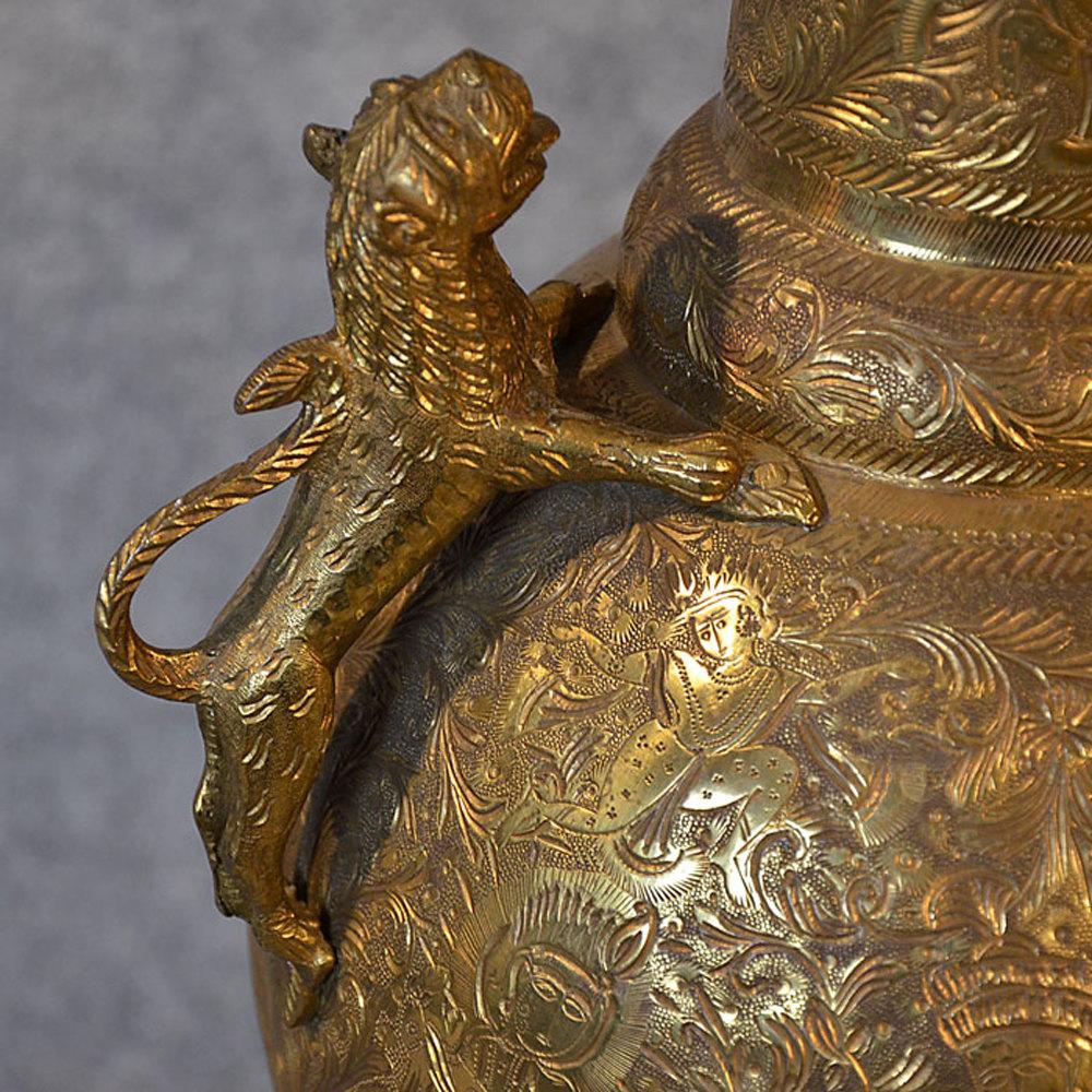 Antiques atlas large brass vase engraved urn asian oriental photos large brass vase reviewsmspy