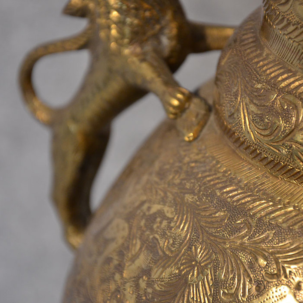 Antiques atlas large brass vase engraved urn asian oriental reviewsmspy