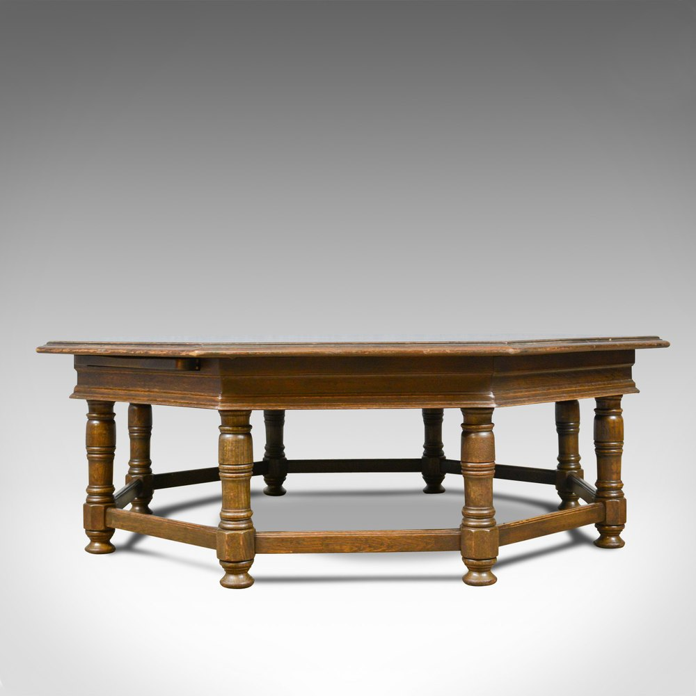 - Antiques Atlas - Large, Vintage Coffee Table, English, Oak, Octagon