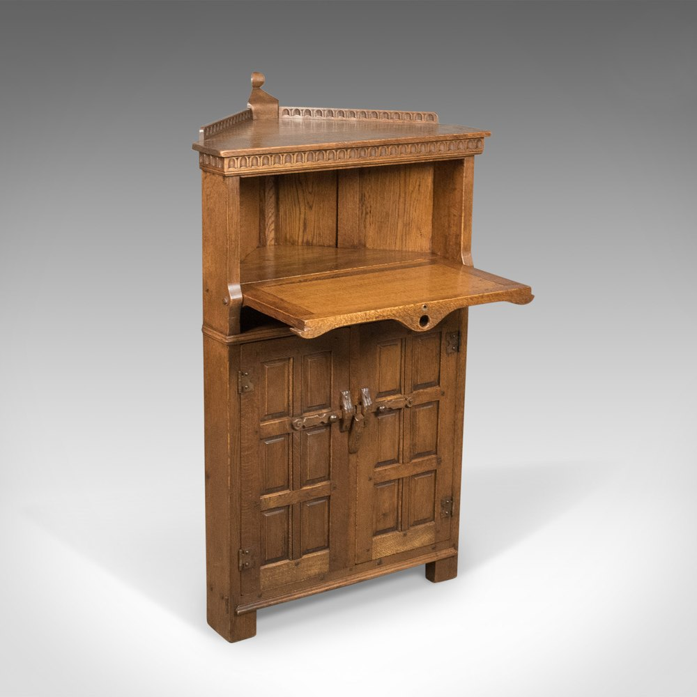 Antiques Atlas Mid Century Carved Oak Corner Cupboard