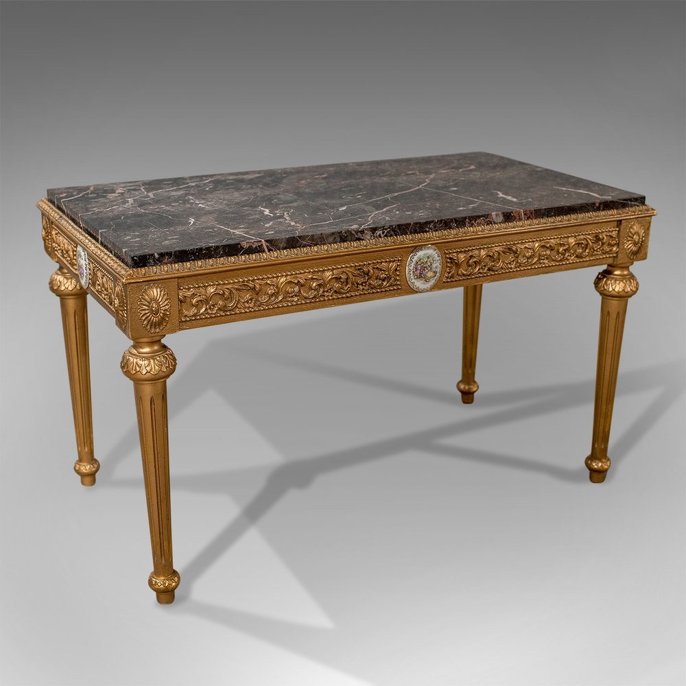 Mid-Century Coffee Table, French Gilt And