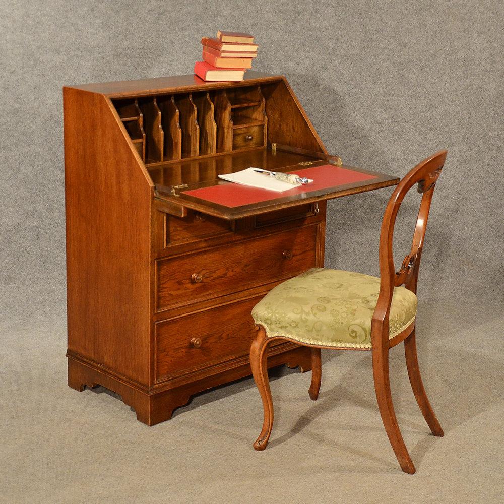 bureau english Oak Bureau Writing Study Desk Quality English ...