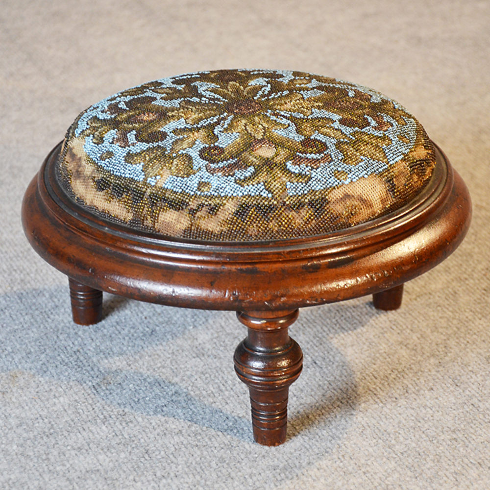 Antique Furniture Bentwood Footstool Or Gout Stool.