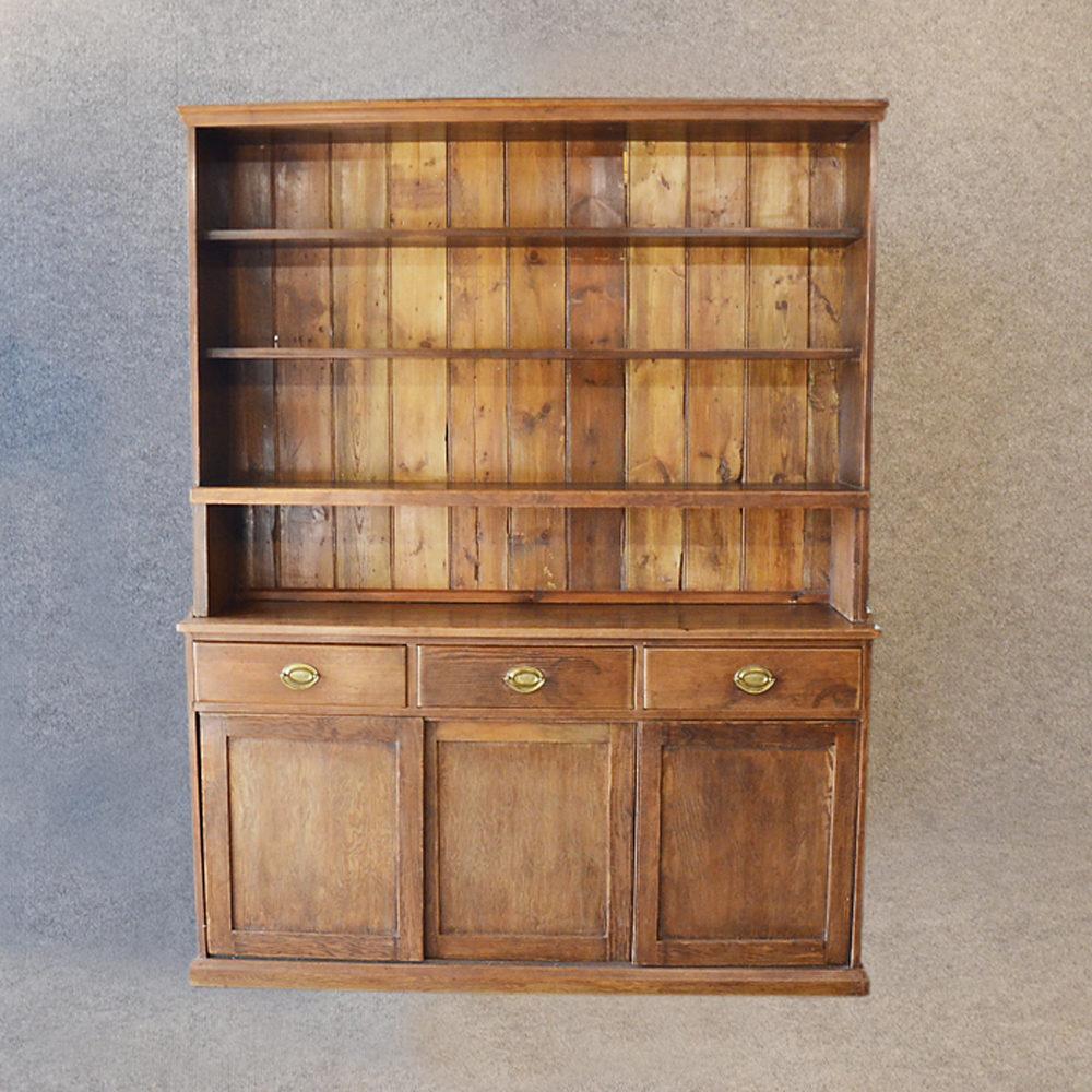 Pine Dresser Welsh Country Kitchen Display Cabinet Antique