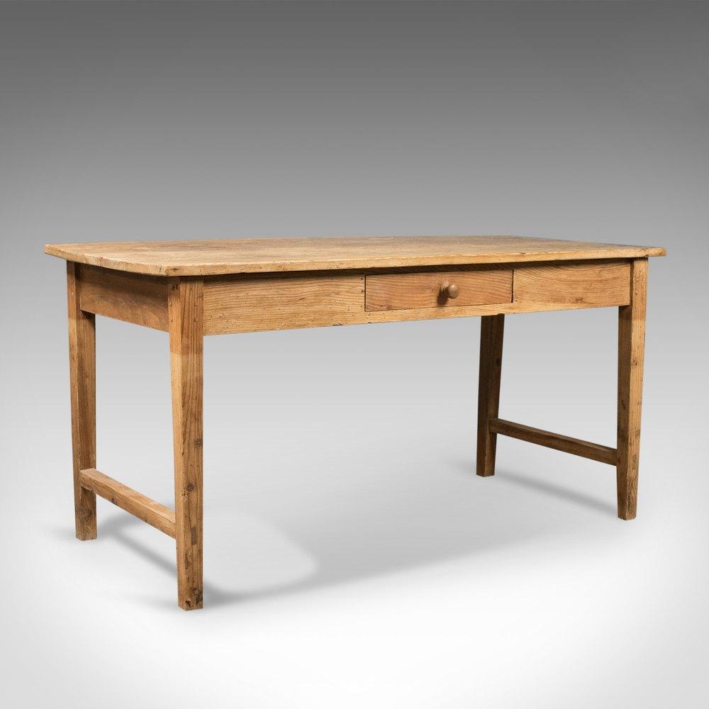 Pine French Farmhouse, Antique Kitchen Table