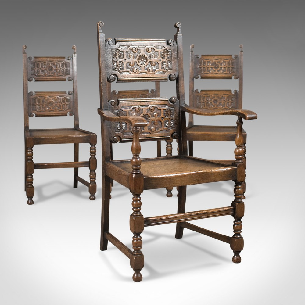 Scottish set of antique dining chairs oak antiques atlas