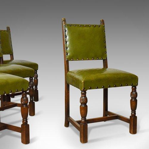 - Set Of Four Antique Dining Chairs, Jacobean - Antiques Atlas