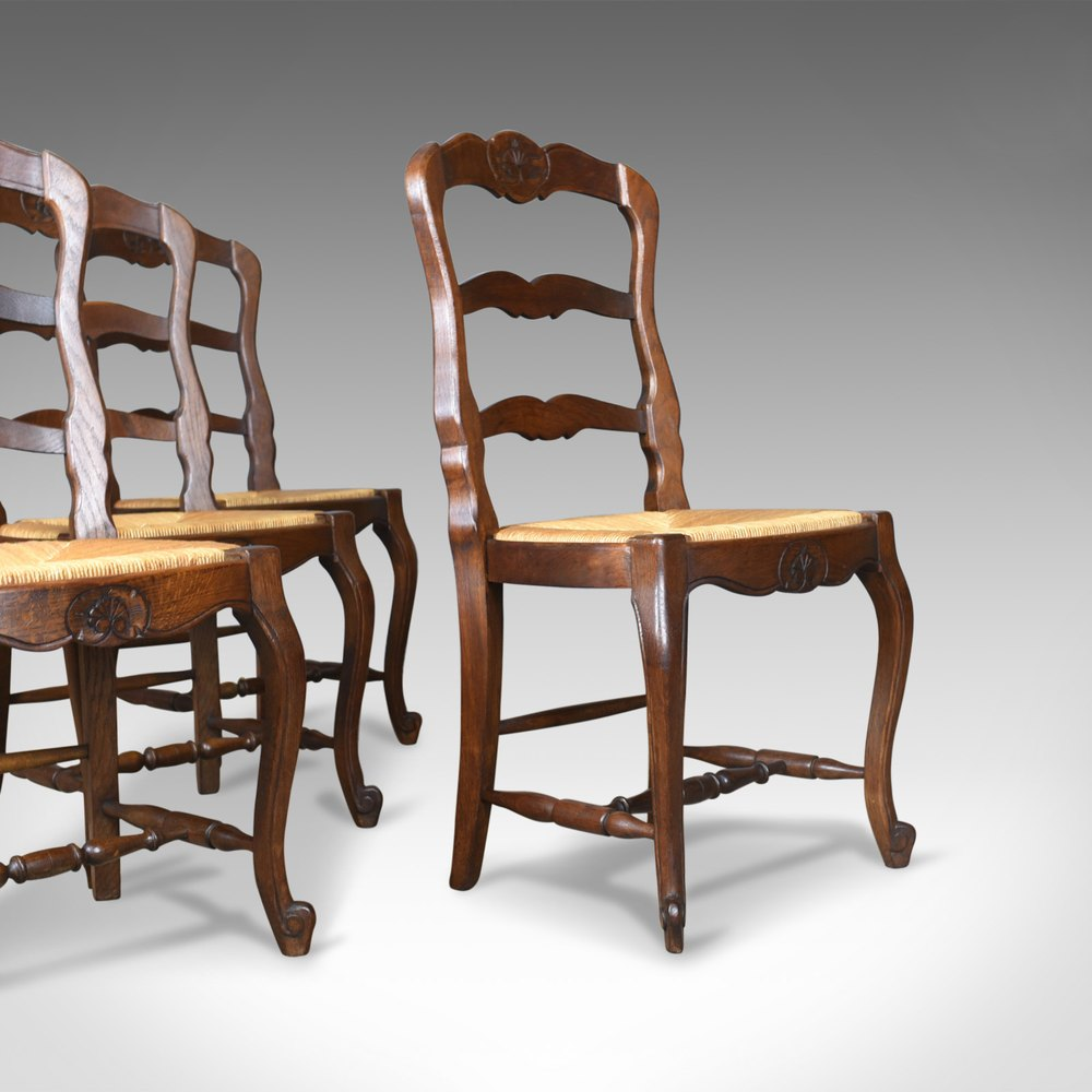 Set Of Four Antique Kitchen Chairs French Country Antiques Atlas