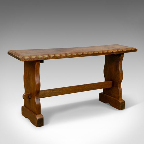 Antiques Atlas Small Teak Bench English Arts Crafts Revival