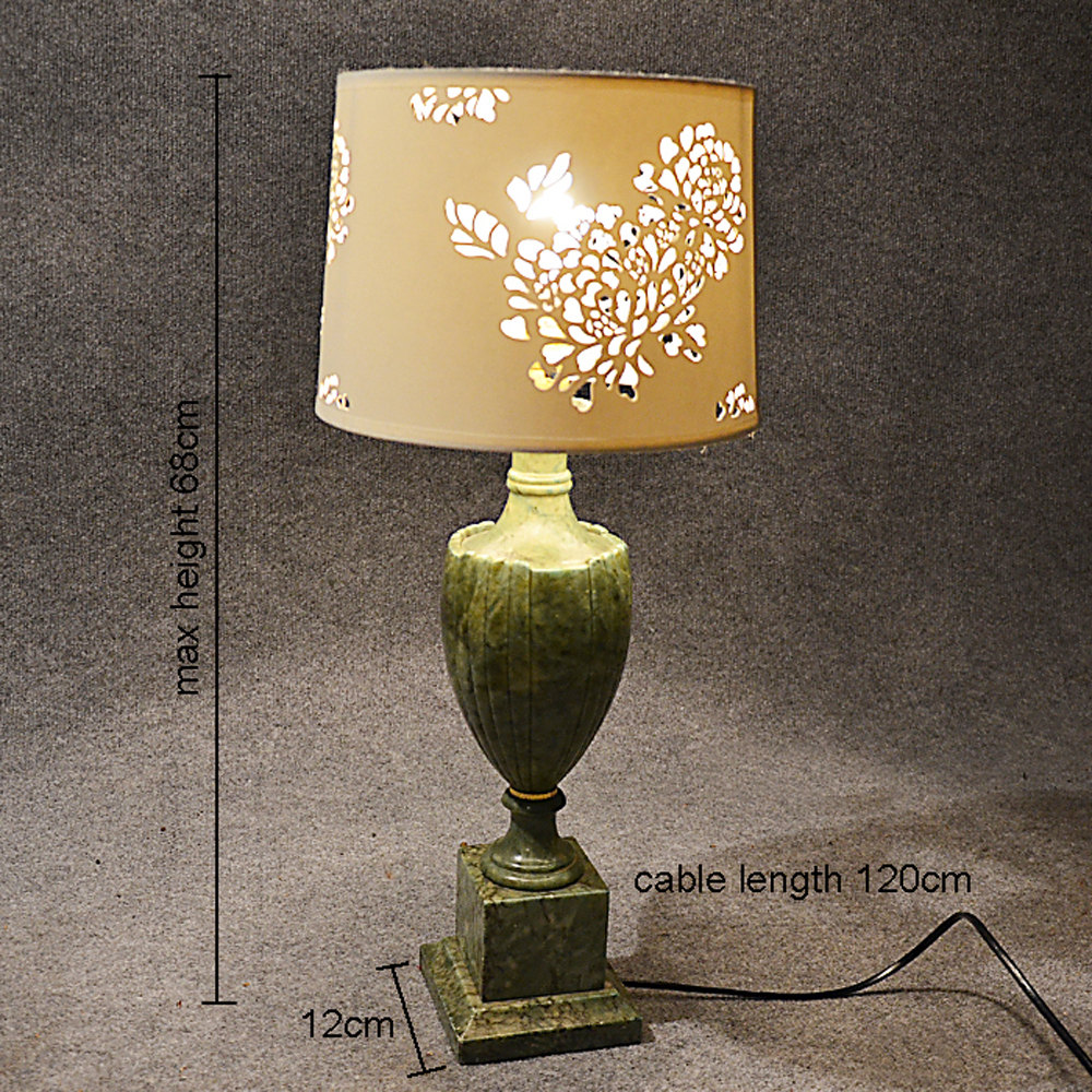 Antiques atlas table side lamp art deco jade green marble antique lighting table lamps aloadofball Images