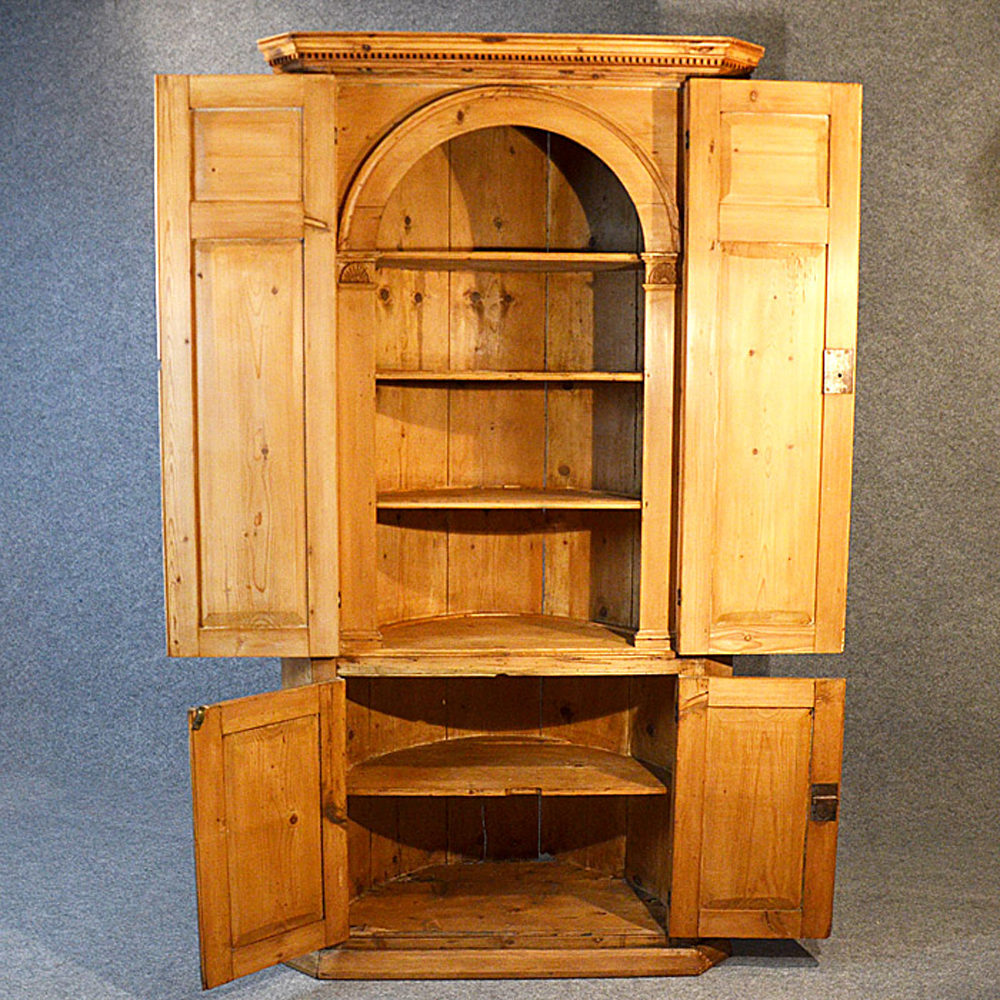 Tall Corner Cupboard Victorian Display Cabinet Antiques