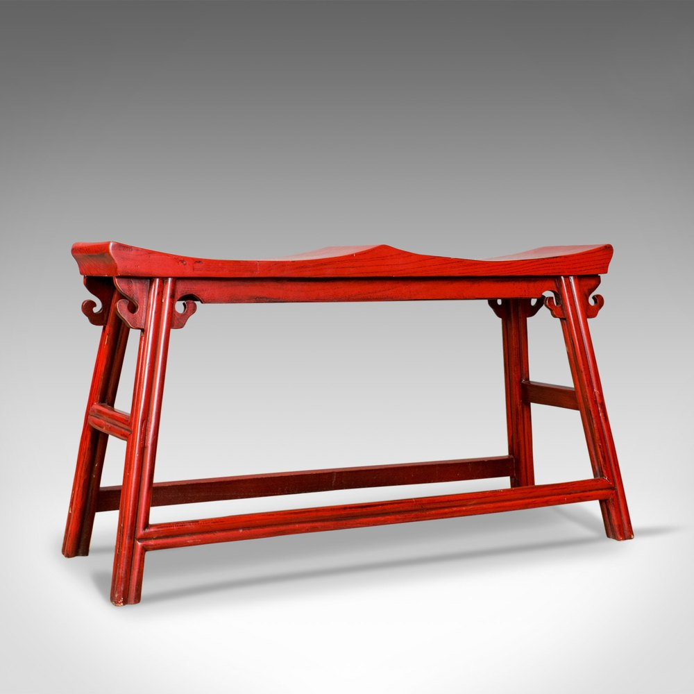 Antiques Atlas - Traditional Chinese Two Seat Bench, 20th ...