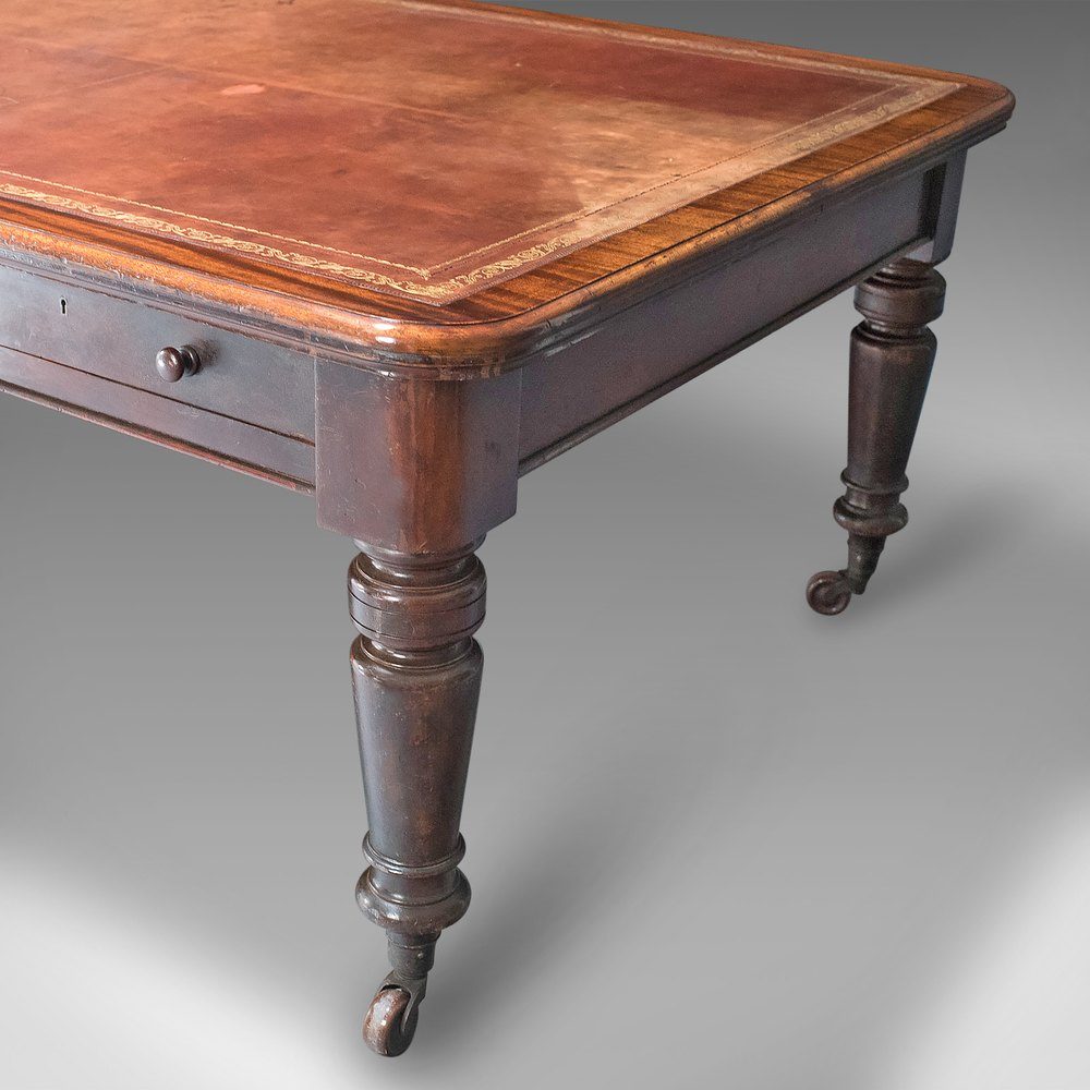 Very Large Antique Library Table, ...