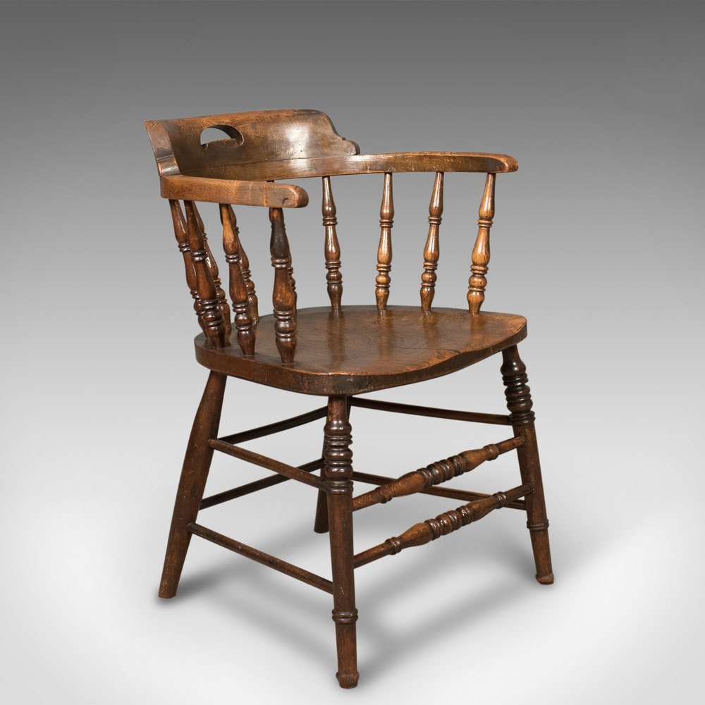 Captivating Victorian Antique Bow Back Chair, English Windsor ...