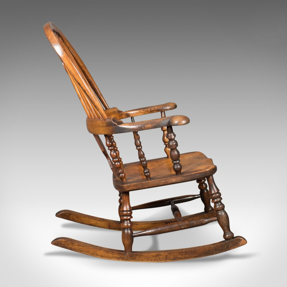 Victorian Antique Windsor Rocking Chair English A