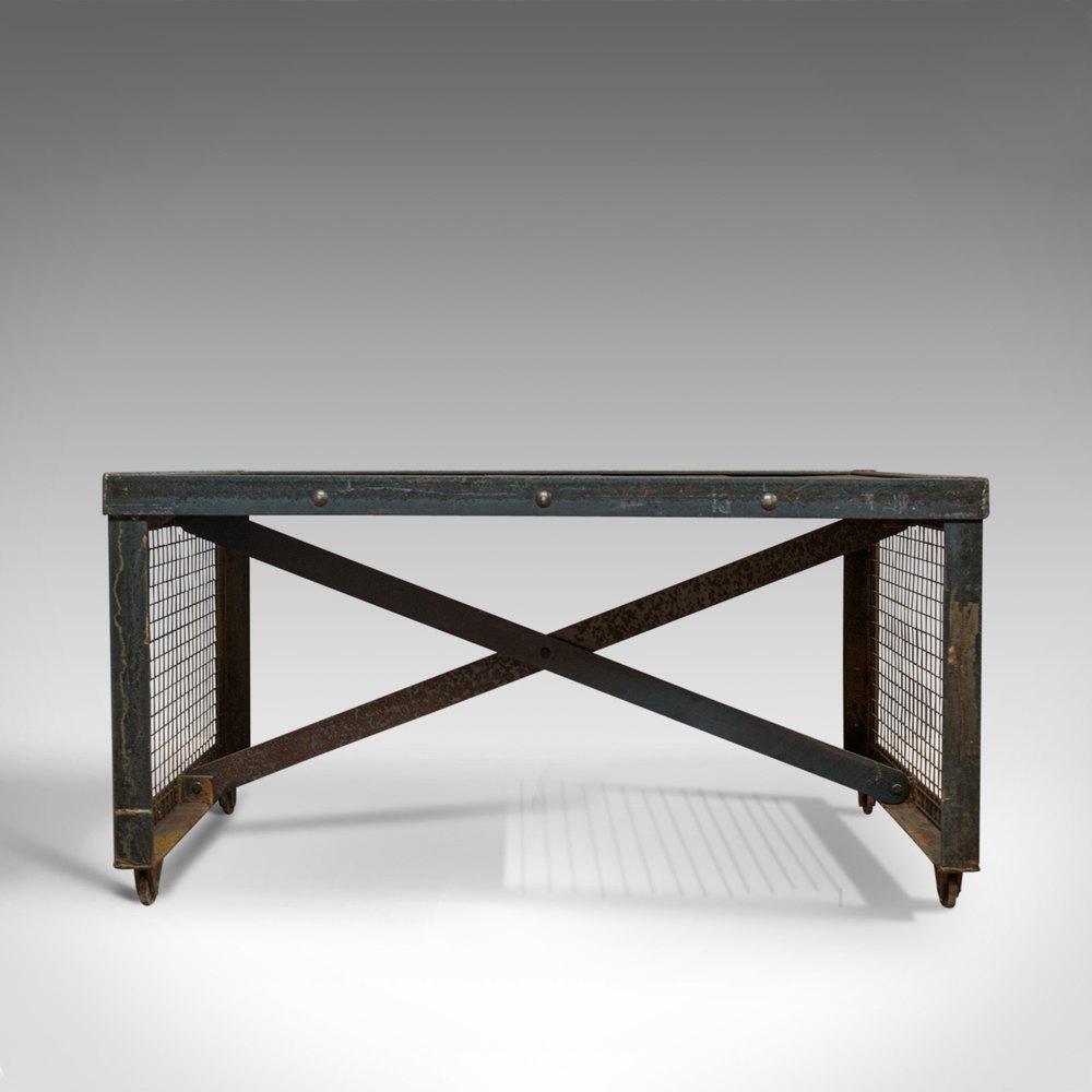 Groovy Vintage Industrial Coffee Table English Steel Creativecarmelina Interior Chair Design Creativecarmelinacom