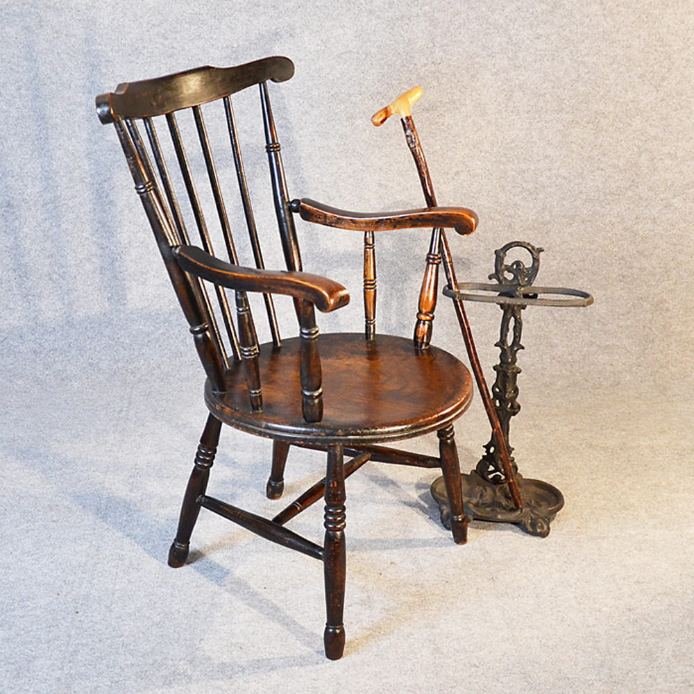 windsor carver reading chair country kitchen - antiques atlas