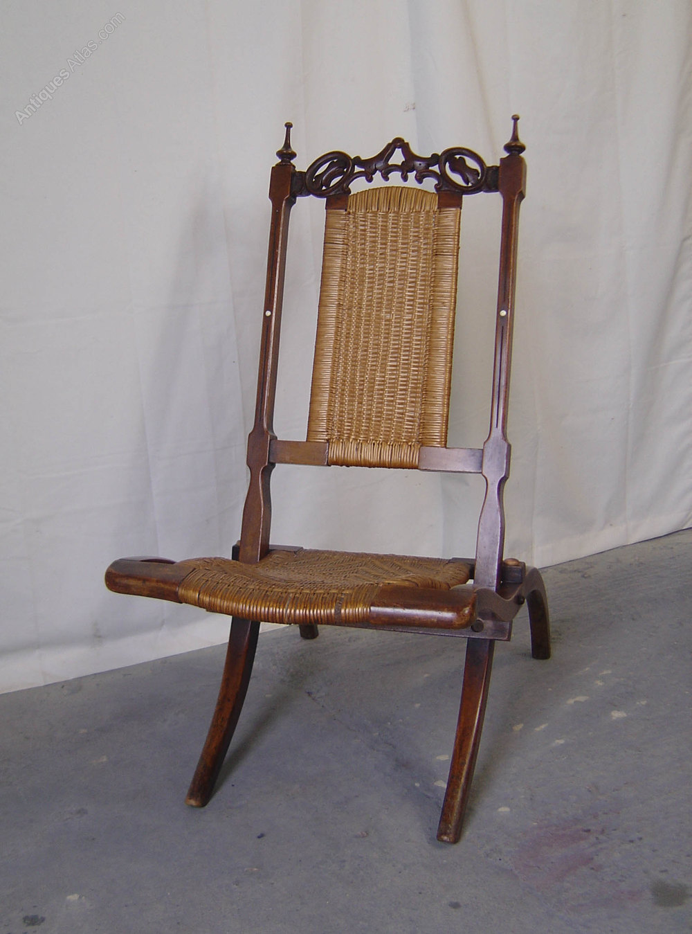 A Victorian Walnut Folding Campaign Chair Antiques Atlas