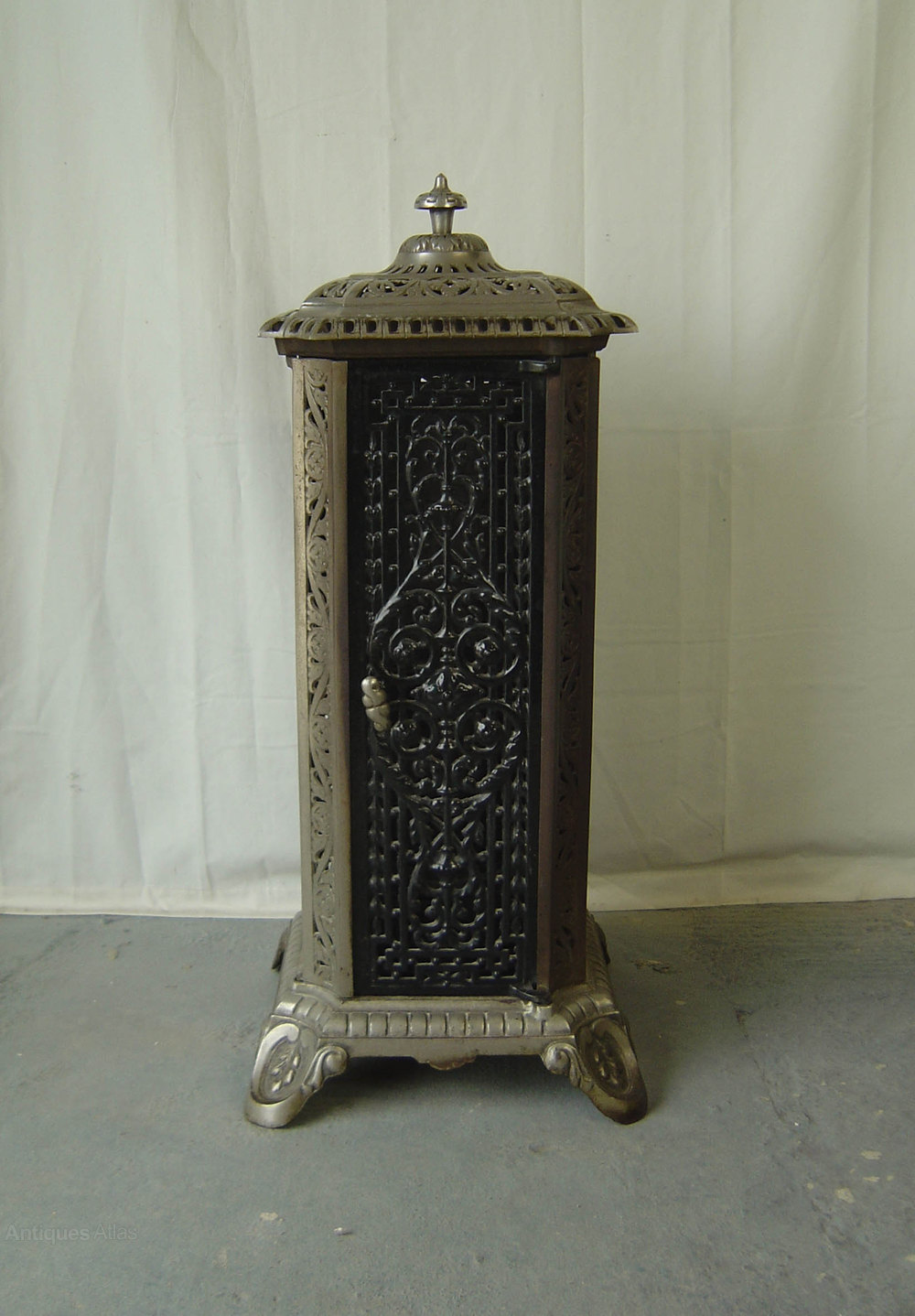 Antiques Atlas Cast Iron Enameled French Stove Heater