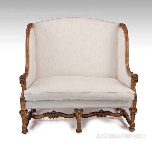 Antique 19th Century Gilt Louis XIV Style Sofa - Antiques Atlas on louis xiv french furniture, louis xiv fauteuil, louis xiv bergere, louis xiv style furniture,