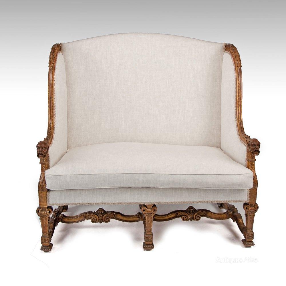 Antique 19th century gilt louis xiv style sofa antiques atlas - Louis xiv sofa ...