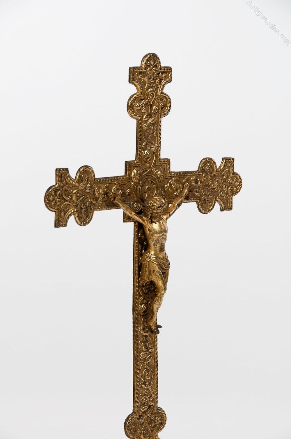 Antiques Atlas Antique Gilt Ecclesiastical Cross Crucifix