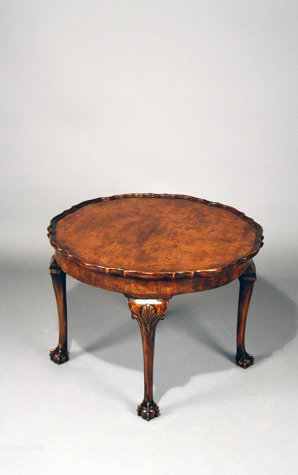 Antique Walnut Pie Crust Edge Coffee Table Antique Coffee Tables ...