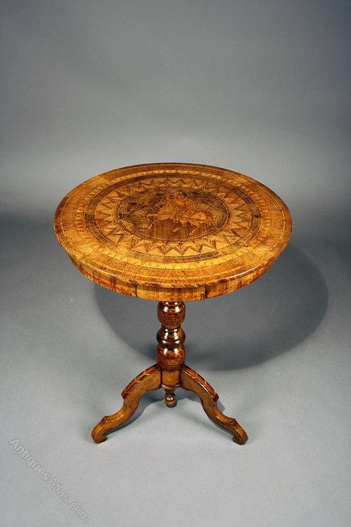 Italian Sorrento Inlaid Occasional Table Antiques Atlas