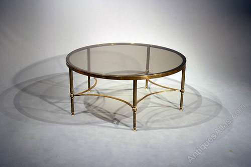 large brass round coffee table