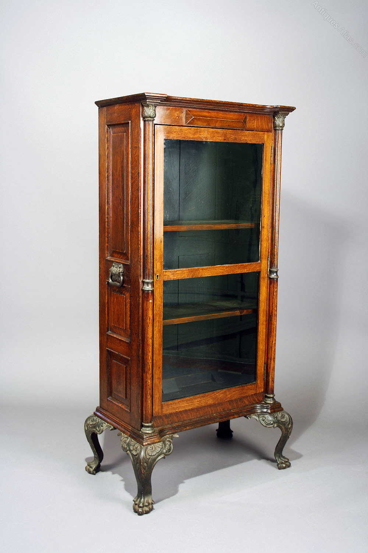 Victorian Oak Cabinet On Cast Iron Feet - Antiques Atlas