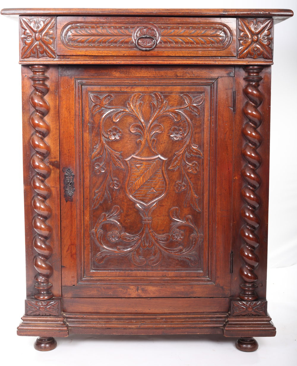 Carved Mahogany Side Cabinet