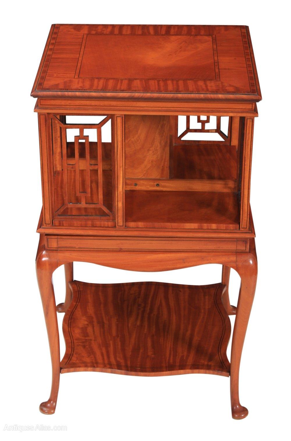 Inlaid Satinwood Revolving Bookcase