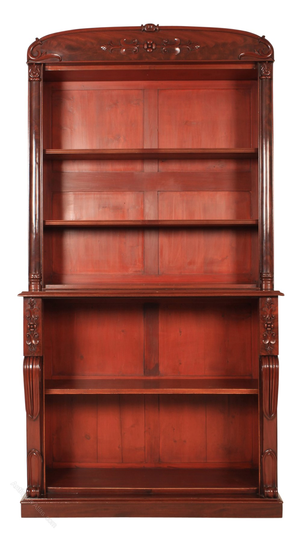 Large Library Open Bookcase - Antiques Atlas